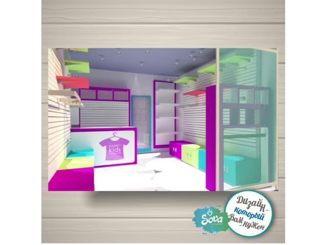 Дизайн магазина, островка, торгового оборудования.